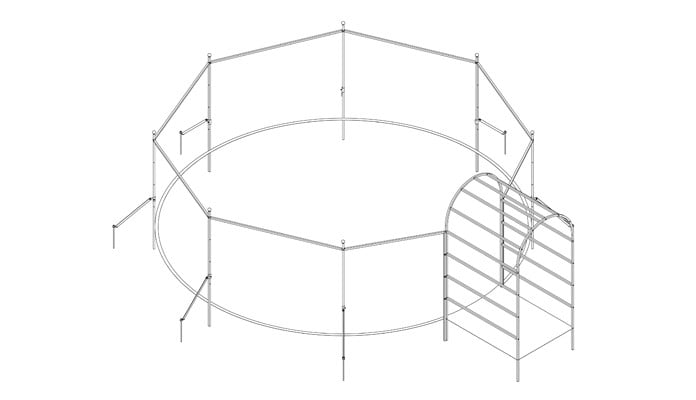 Roman Arch with Circular Arch Fence System Design