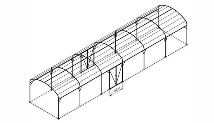 Ellipse Arch Fruit Cage Design