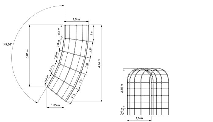 Roman Arches Linked & Curved CAD 1