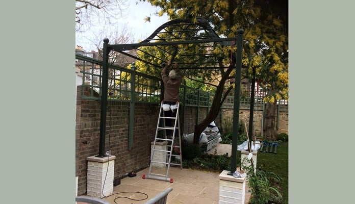 Steel Gazebo Pergola Build 1