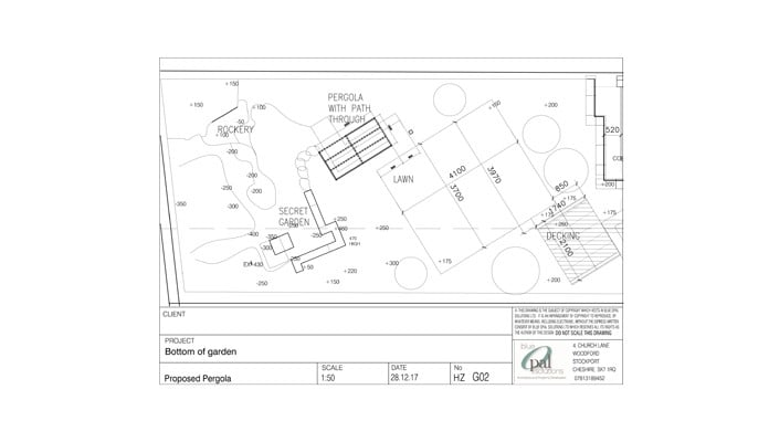 Setting Out Plan of the Garden