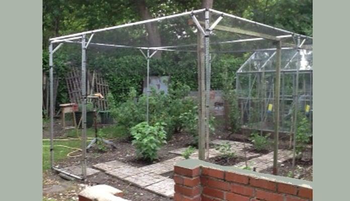 4m x 3m Aluminium Fruit Cage, Mr Wright - Dorset