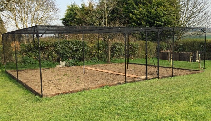 9m x 6m Bespoke Steel Sloping Fruit Cage, Mr Ward - Hertfordshire