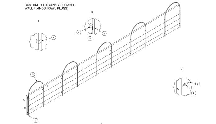 Roman Arches Wall Fixed CAD Drawing 2