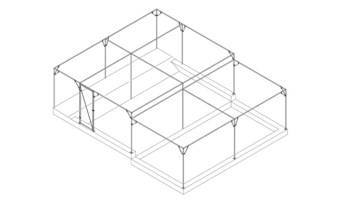 Fruit Cage on Multi Level Site
