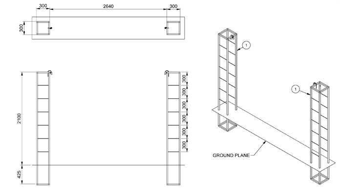 Contemporary Growing Frames CAD Drawing 1