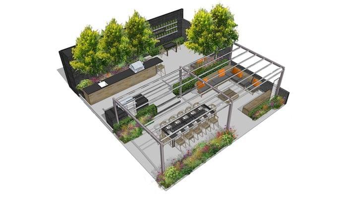 Gaze Burvill RHS Chelsea Flower Show Stand Plan 2017
