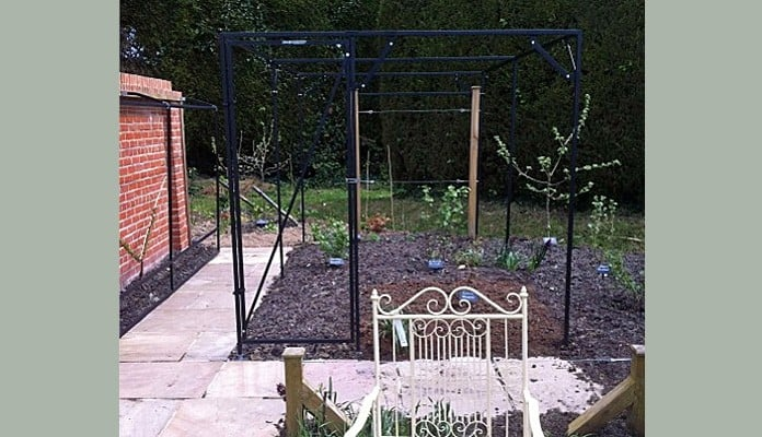 4m x 2.2m Steel Fruit Cage, Mr Ford - East Sussex
