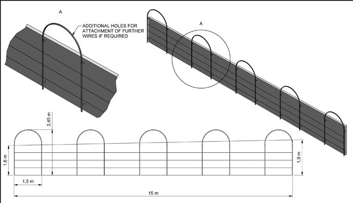 Roman Arches Wall Fixed CAD Drawing 3