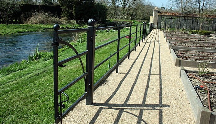 Walled Garden Estate Fencing Complete 5