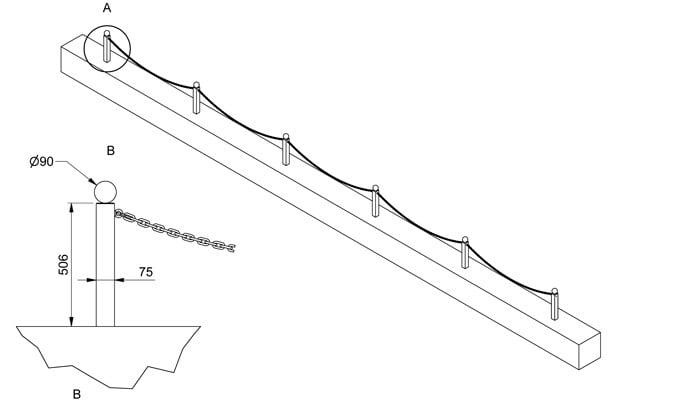 Low Driveway Fence Design