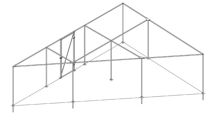 Angled Steel Fruit Cage Design