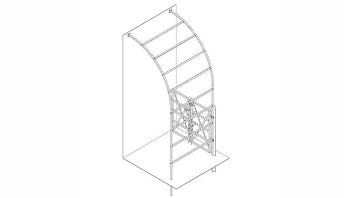 Roman Half Arch with X Brace Gate
