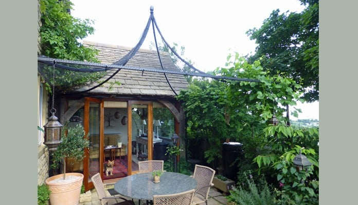 Bespoke 3m x 3m Peak Roof Cage, Mr Stoker - Gloucestershire
