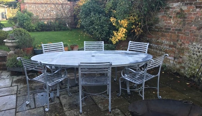 Oval Table and 6 Carver Chairs - Mr Porteous, Hampshire