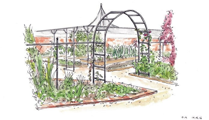 Fruit Cage Steel Peak for Brassicas Illustration