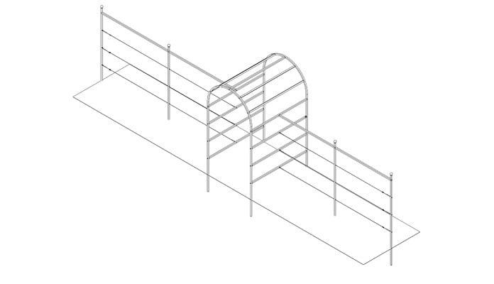 1.2 x 1.5m Roman Arch Fence System Design