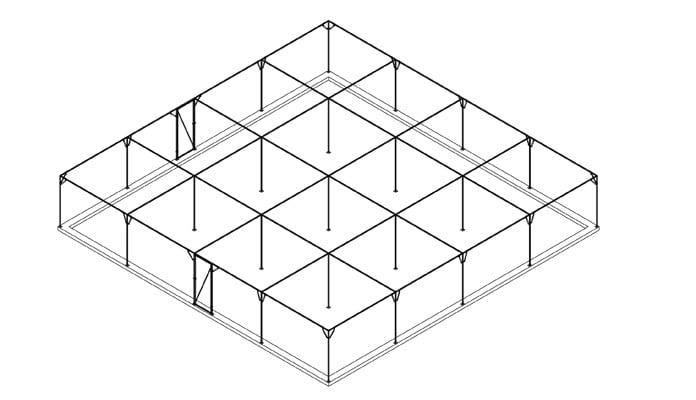 Large Steel Fruit Cage Design