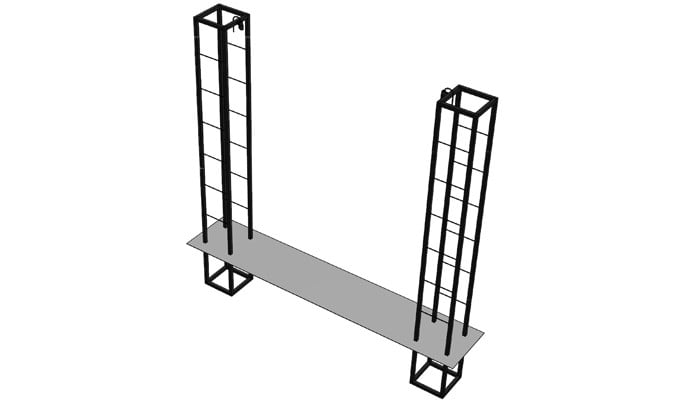 Contemporary Growing Frames CAD Drawing 3