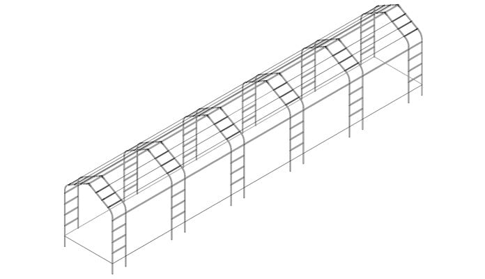 Tudor Linked Arches Design
