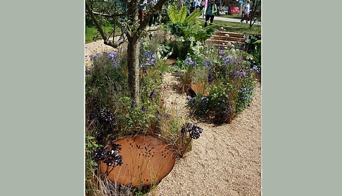 Bespoke Steel Water Bowl at RHS Hampton Court 2016