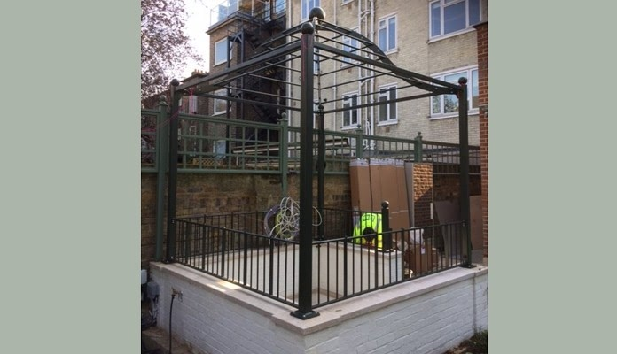 Steel Gazebo Pergola Build 4