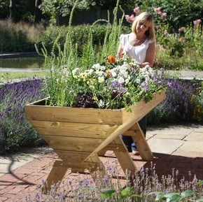 Wooden Trough Planters & Tables