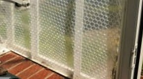 Kitchen Garden Blog - bubble wrap insulation in the greenhouse