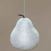 Apple & Pear Silver Tree Decorations by Sia