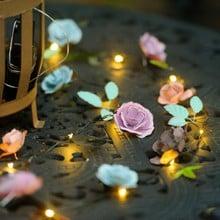 Automatic LED String Lights Rose Design