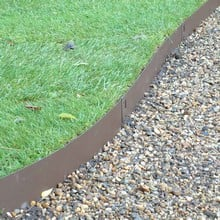 Brown Flexible Steel Lawn Edging