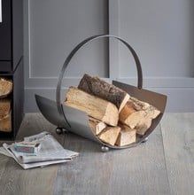 Contemporary Steel Log Carrier