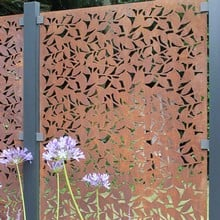 Corten Steel Panels Branches Design Harrod Horticultural