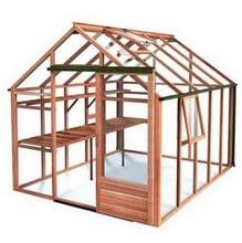 Essential 8ft x 10ft Cedar Greenhouse by Gabriel Ash