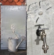 Galvanised Steel Water Butt 320 Litre