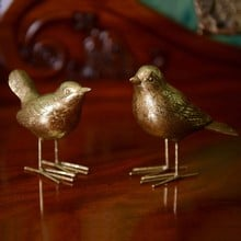 Gold Bird Decorations by Gisela Graham