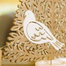 Gold Christmas Trees by Gisela Graham