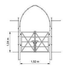 Gothic Arch with Gate and Fence - Bespoke Design