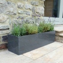 Granite Window Box Planters (Set of 2)