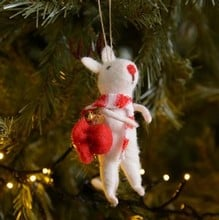 Hanging Mice Decorations (Set of 3) by Gisela Graham