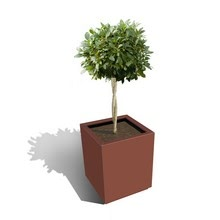 Harrod Square Metal Planters - Corten Effect