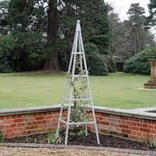 Harrod Steel Pyramid Obelisks - Silk Grey