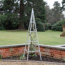 Harrod Steel Pyramid Obelisks - Silk Grey