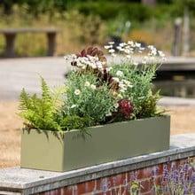 Harrod Trough Metal Planters - Heritage Green