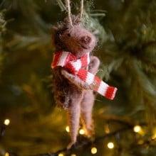 Hedgehog Christmas Tree Decorations (set of 2)