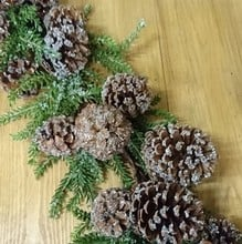 Iced Pine Cone Garland by Floral Silk