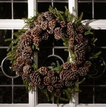 Iced Pine Cone Wreath by Floral Silk
