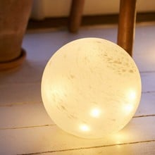 Large Frosted Glass LED Orbs with multi function timer