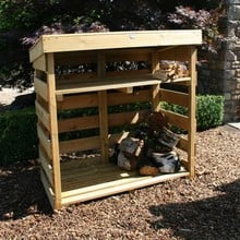 Open Log Store with Shelf