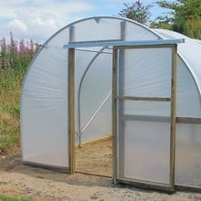 Polytunnel 10ft wide with Sliding Doors